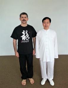 Нигей Павел с Кан ГэУ, Мастером 9 дуаня по ушу, после семинара по Багуа чжан