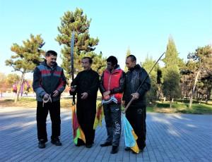 Павел Нигей и Эдгар Тобуков со своими Учителями - Цай Мантун и Тынагыргин Николай Иванович