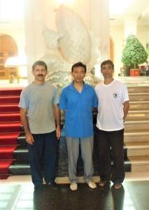 Павел Нигей со Мастером Джао и Тынагыргиным Н.Н., Китай, 2011