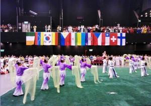 Церемония открытия 9-го международного чемпионата по ушу в Гонконге.
