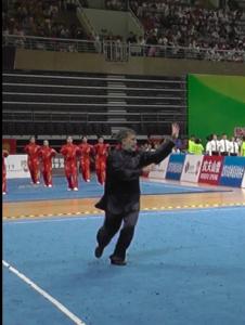 Павел Нигей на Соревнование по Ушу в Китае, 2019.